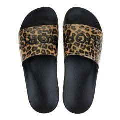 dames slippers harper II leopard zwart