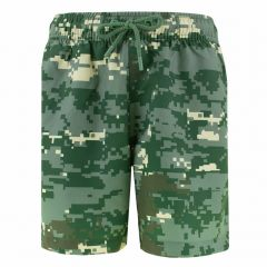 jongens loose short kenny digital woodland groen
