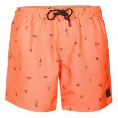 cruneco print rits zwemshort oranje