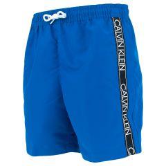 jongens tape logo II zwemshort blauw