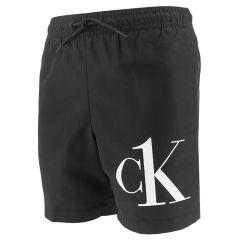 jongens corner logo zwemshort zwart