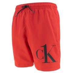 jongens corner logo zwemshort rood