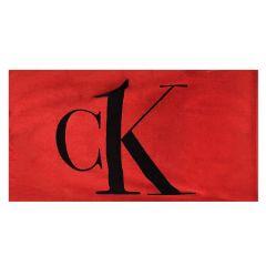 ck logo strandlaken rood