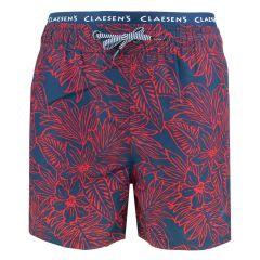 zwemshort loose fit hawaii blauw & rood