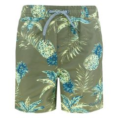 zwemshort loose fit pineapple groen