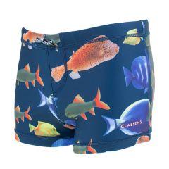 zwemboxer fish blauw