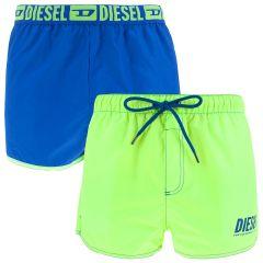 sandy reversible zwemshort blauw / groen