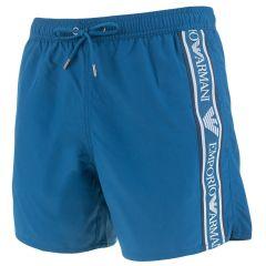 one tape logo zwemshort blauw
