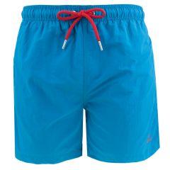 basic swim short teal blauw