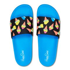 slippers ice cream blauw