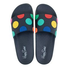 slippers big dot blauw