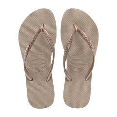 dames slippers slim roségoud