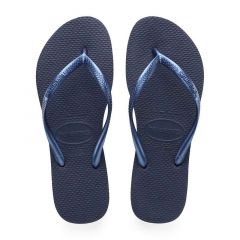 dames slippers slim blauw