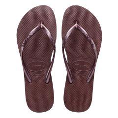 dames slippers slim paars