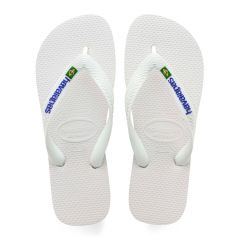 slippers brasil logo wit