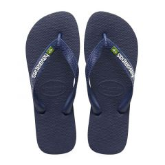 slippers brasil logo donkerblauw