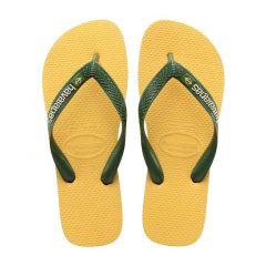 slippers brasil logo geel