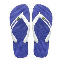slippers brasil logo blauw