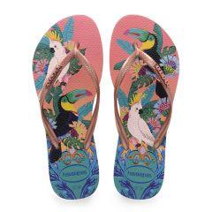 dames slippers slim tropical multi