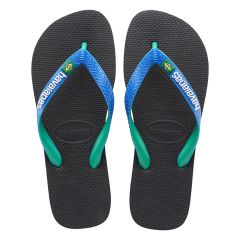 slippers brasil mix zwart