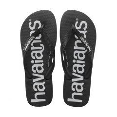 heren slippers top logomania zwart