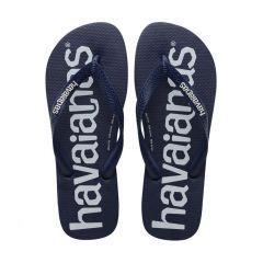 heren slippers top logomania blauw