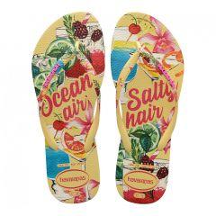 dames slippers slim summer geel
