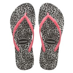 dames slippers slim leopard multi