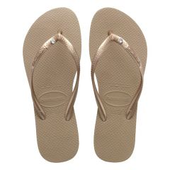 dames slippers slim crystal sw roségoud