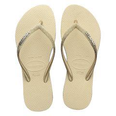 dames slippers slim sparkle II beige