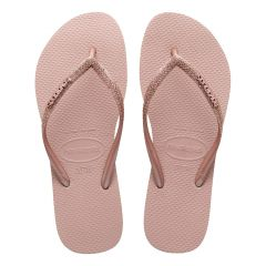 dames slippers slim glitter II roze