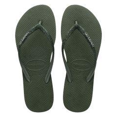 dames slippers slim glitter II groen