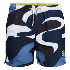 camo rits zwemshort blauw