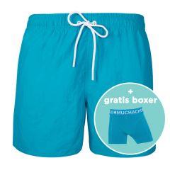 jongens rits zwemshort basic blauw III