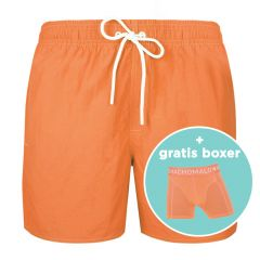 jongens rits zwemshort basic oranje