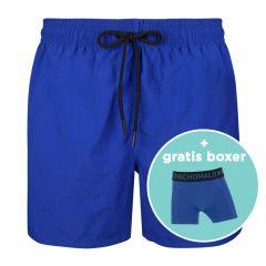 jongens rits zwemshort basic blauw IV