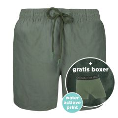 jongens water react rits zwemshort groen