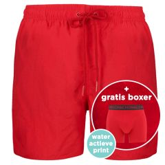 water react rits zwemshort rood