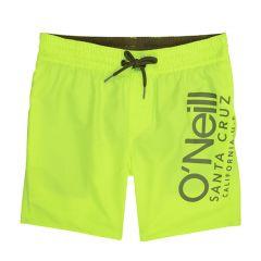 jongens cali side logo zwemshort geel