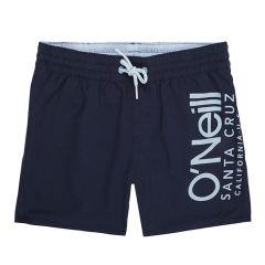 jongens cali side logo zwemshort blauw