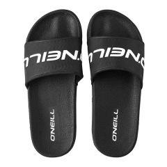 slippers logo zwart