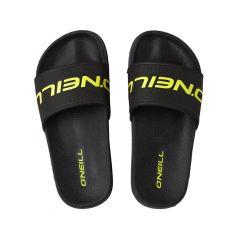 jongens slippers cali logo zwart