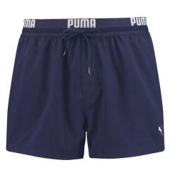 rits runner zwemshort logo waistband blauw
