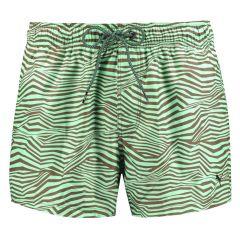 runner zwemshort zebra print groen