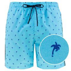 zwemshort palmtree blauw