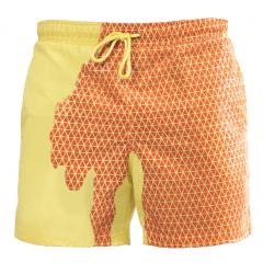 kleurveranderende zwembroek bermuda's secret oranje-geel