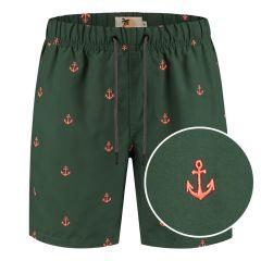 zwemshort anchor groen