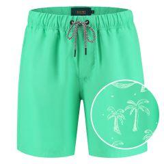 magic leopard palm zwemshort groen