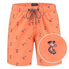 snoopy happy skater zwemshort oranje