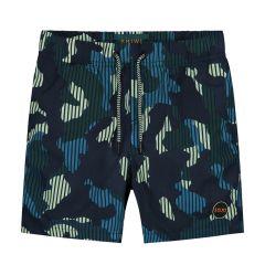 jongens zwemshort camouflage blauw & groen